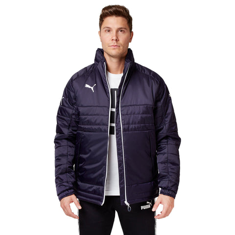 Puma Mens Stadium Jacket New Navy- White Puma