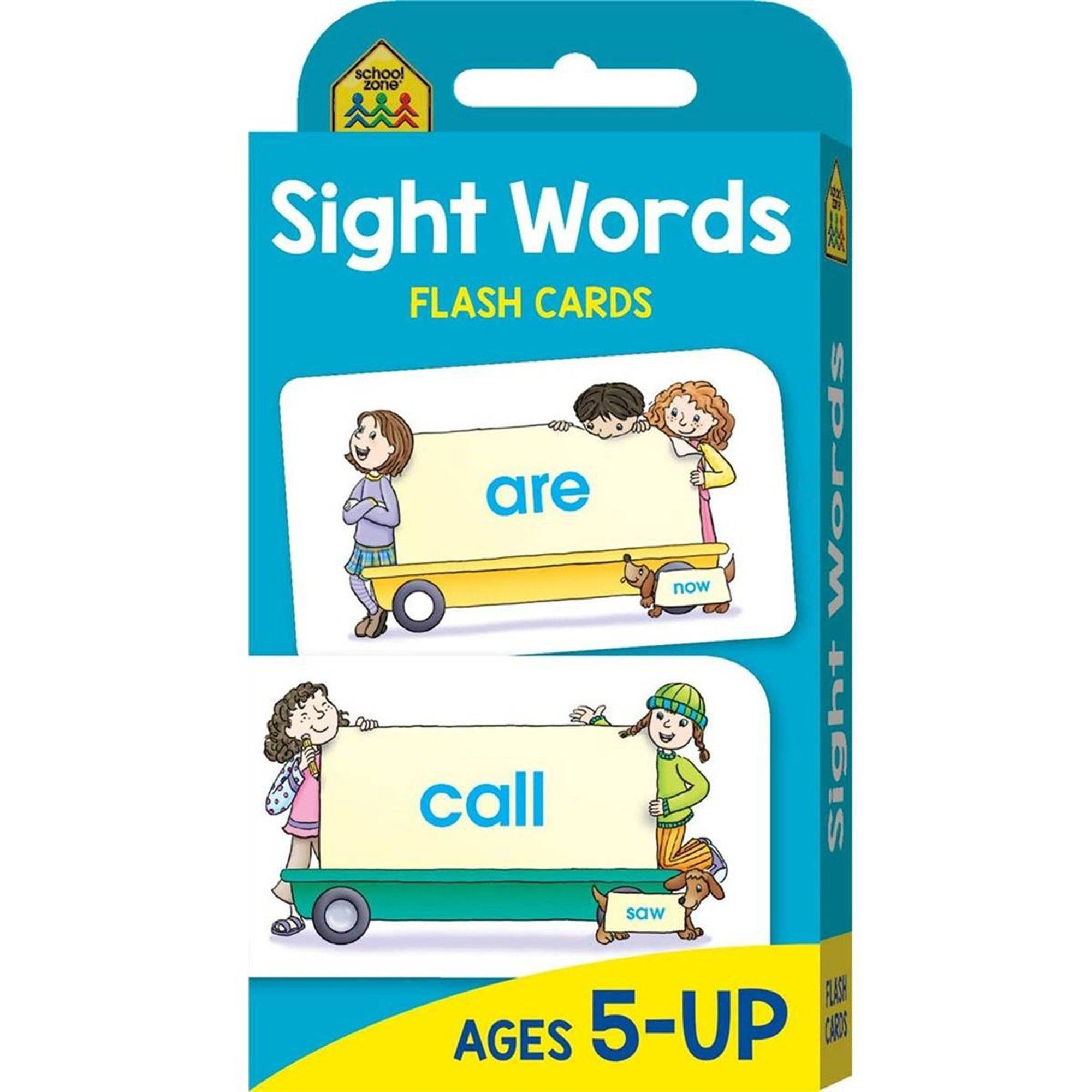 School Zone Giant Workbook (Beginning Reading) & Flashcard Pack (Sight Words) Books Hinkler Books