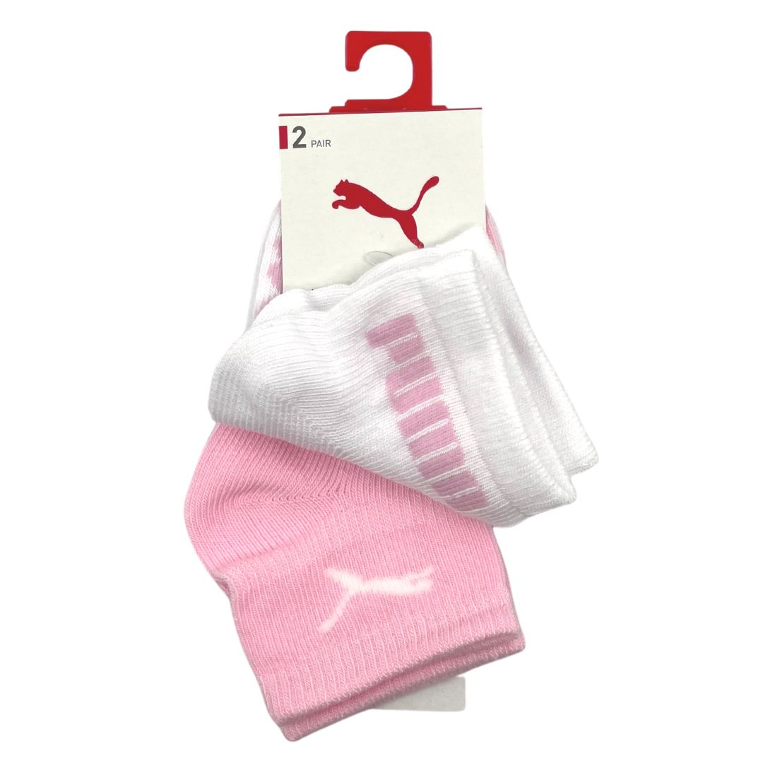 Puma Baby Mini Cats Lifestyle Sock 2P - Pink Lady SP-Accessories-Socks Puma