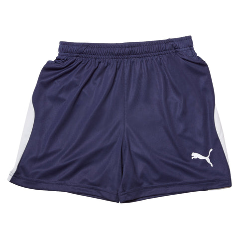 Puma Junior Liga Shorts - Peacoat/White Apparel Puma