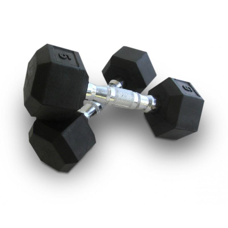 Bodyworx 37.5kg Rubber Hex Dumbell (sold individually) SP-Exercise Equipment Bodyworx