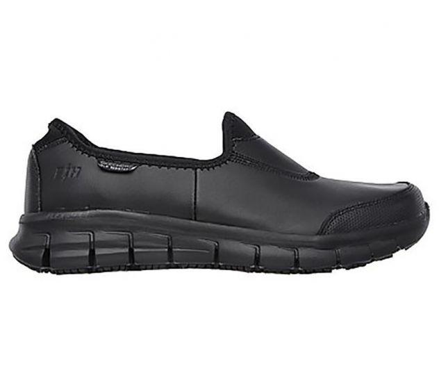 Skechers Sure Track - Black/Black SP-Footwear-Womens Skechers
