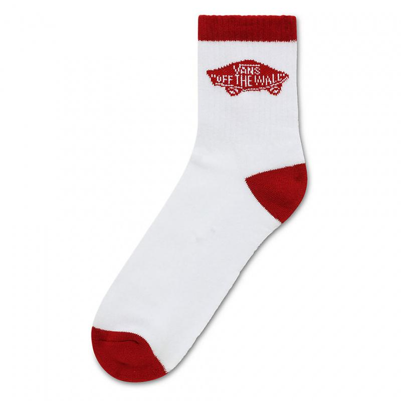 Vans Vans Art Half Crew Sock 1 Pair - White-Chili Pepper SP-Accessories-Socks Vans