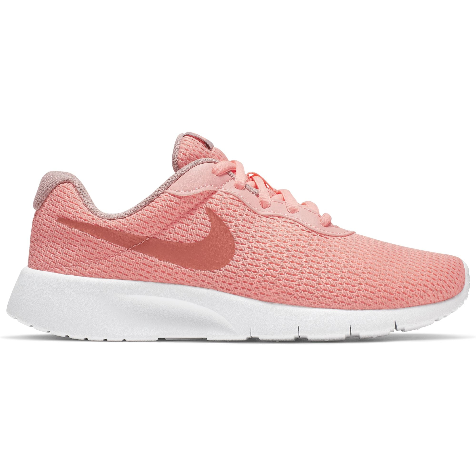 Nike Girls Tanjun (GS) Girls' Shoe - Pink Tint/Mtlc Rose Gold-Atmosphere Grey Q3NIKE Nike