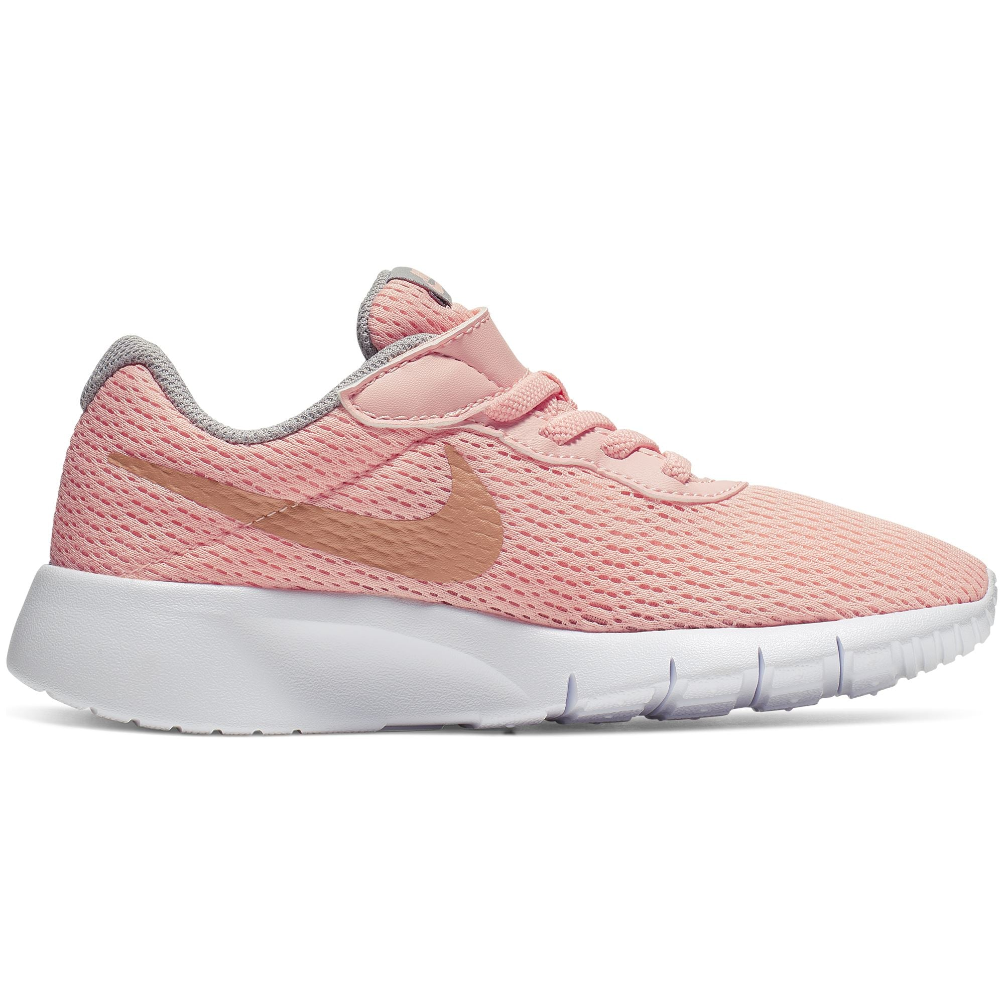 factory outlets best selling exclusive deals Nike Girls Tanjun (PS) Pre-School Shoe - Pink Tint/Mtlc Rose  Gold-Atmosphere Grey