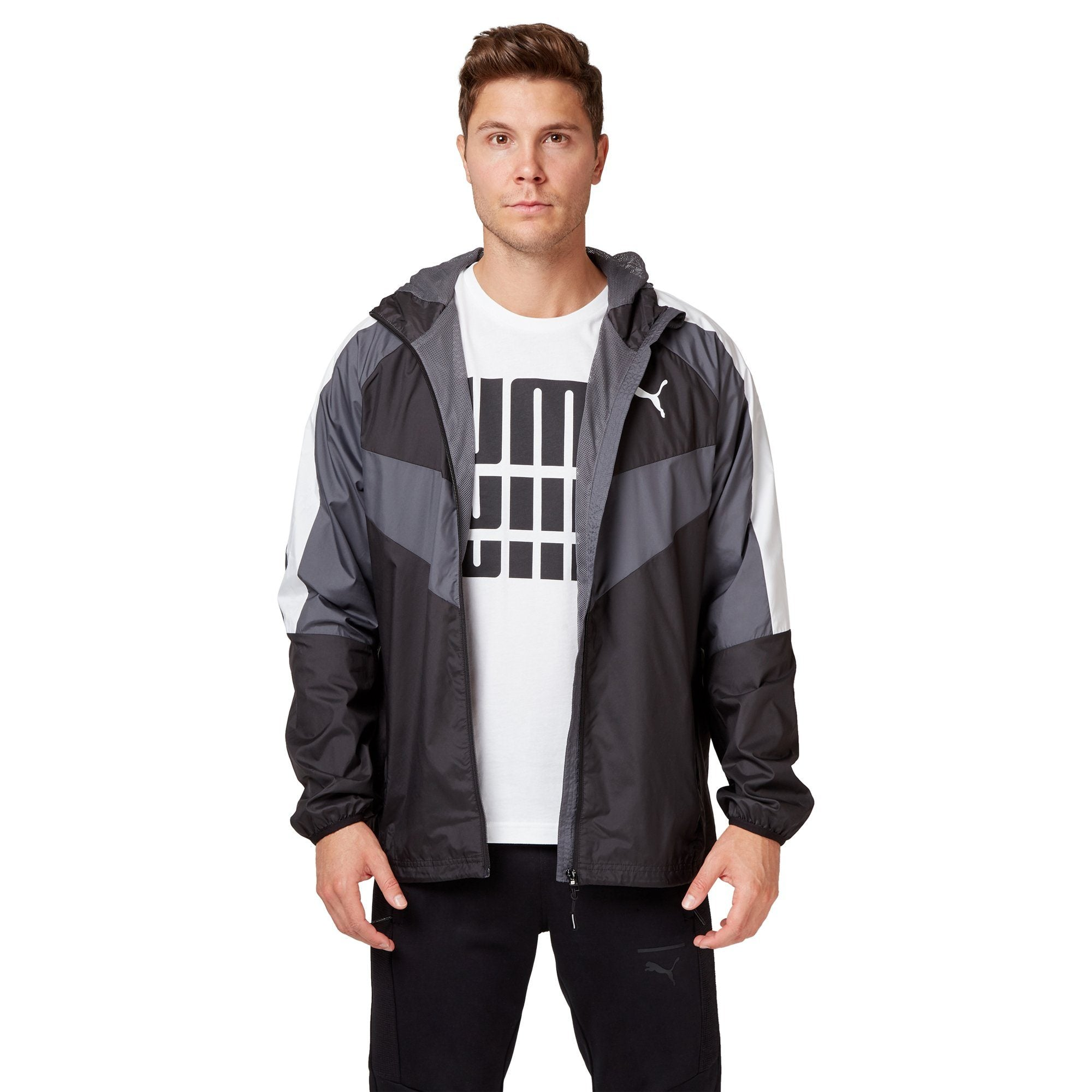 Puma Men's PWRVent Windbreaker Jacket - Black Apparel Puma  (2122605854779)