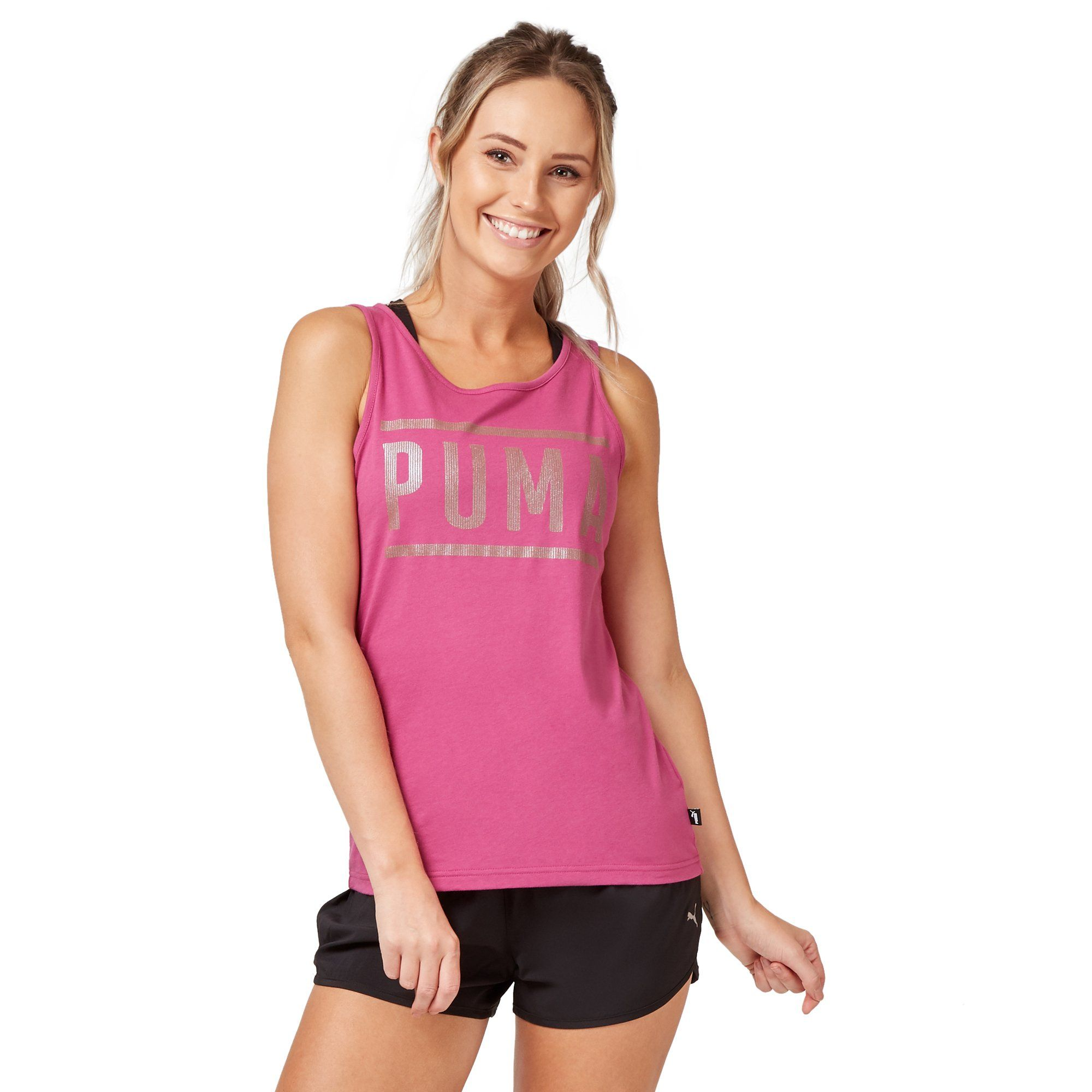 Puma Women's Athletic Tank Top - Magenta Apparel Puma  (2122607493179)