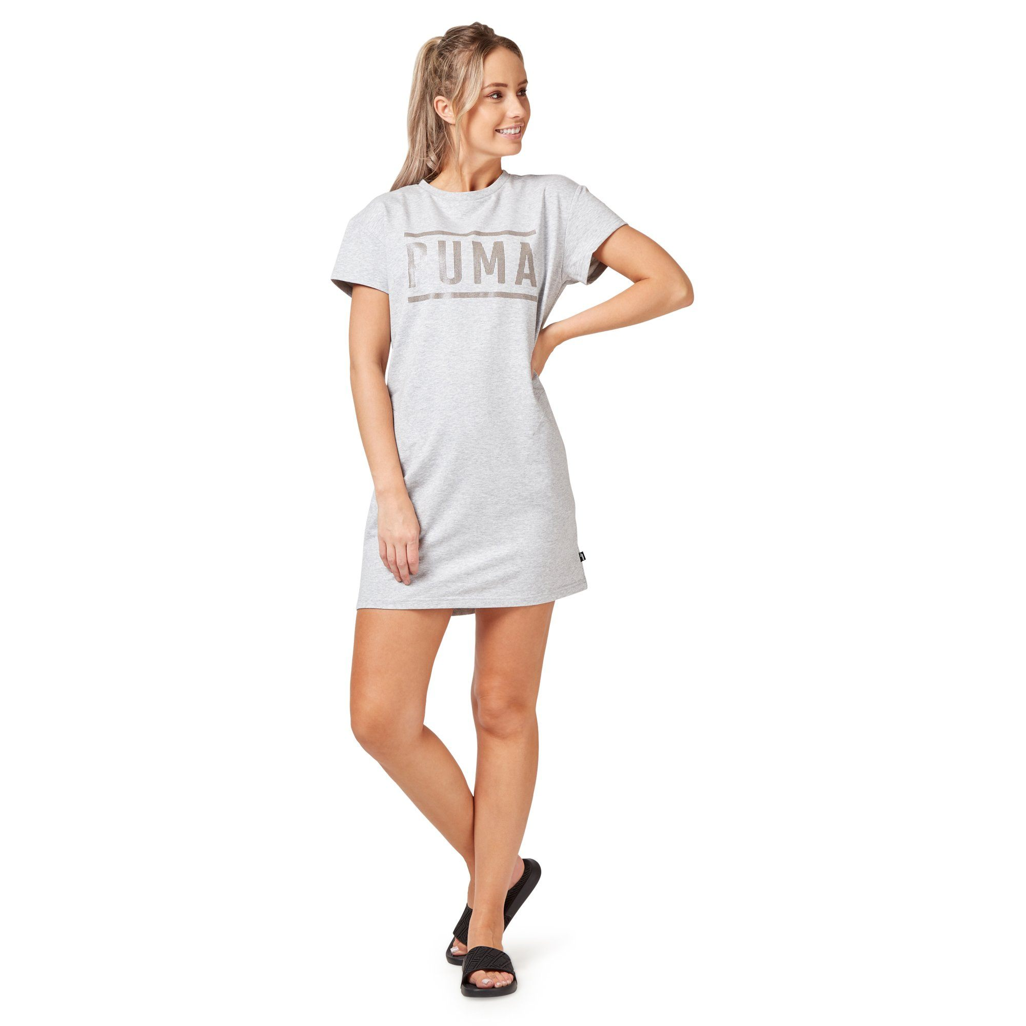 Puma Women's Athletic Dress - Light Grey Apparel Puma  (2122609131579)