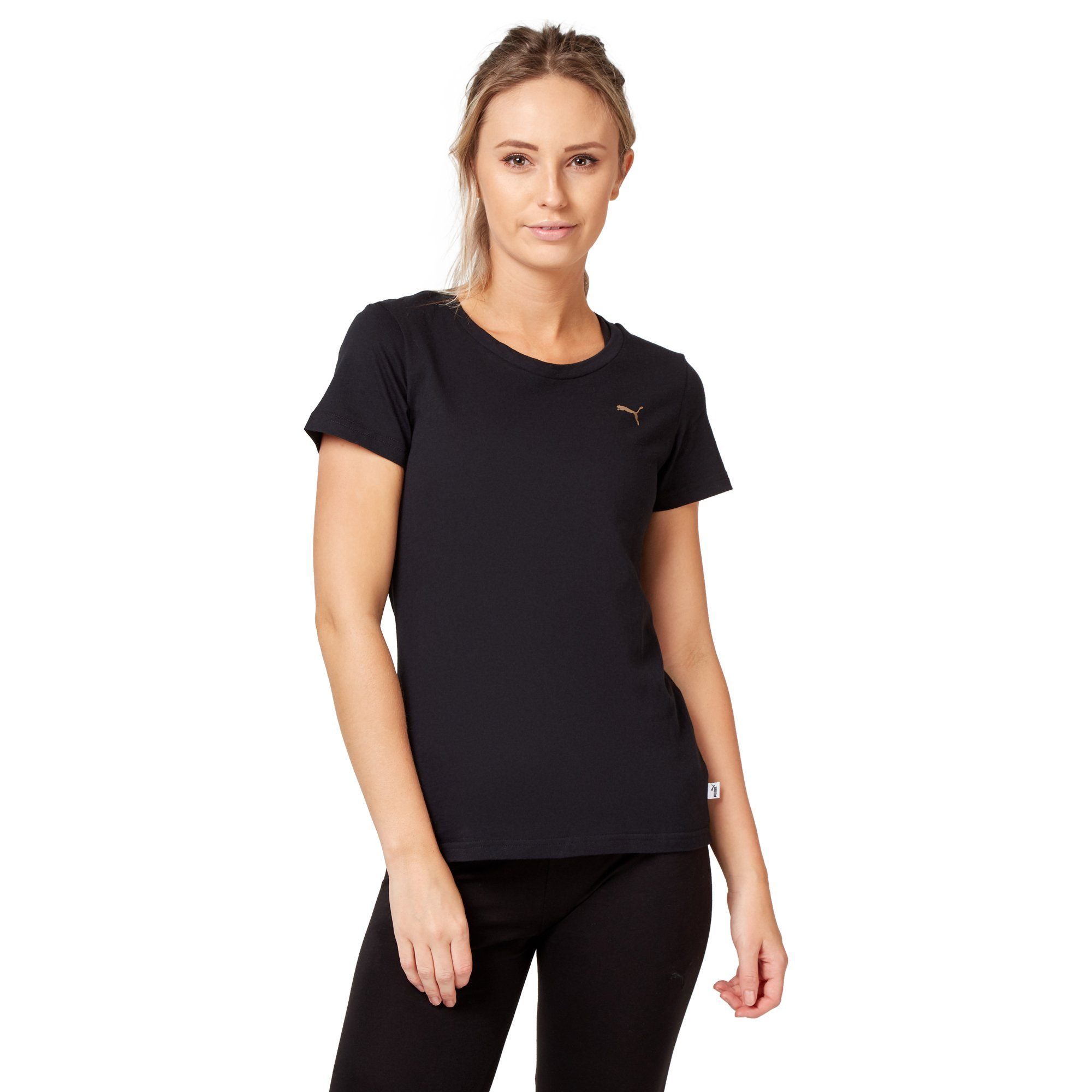 Puma Women's Athletic Tee - Black Apparel Puma  (2122609360955)