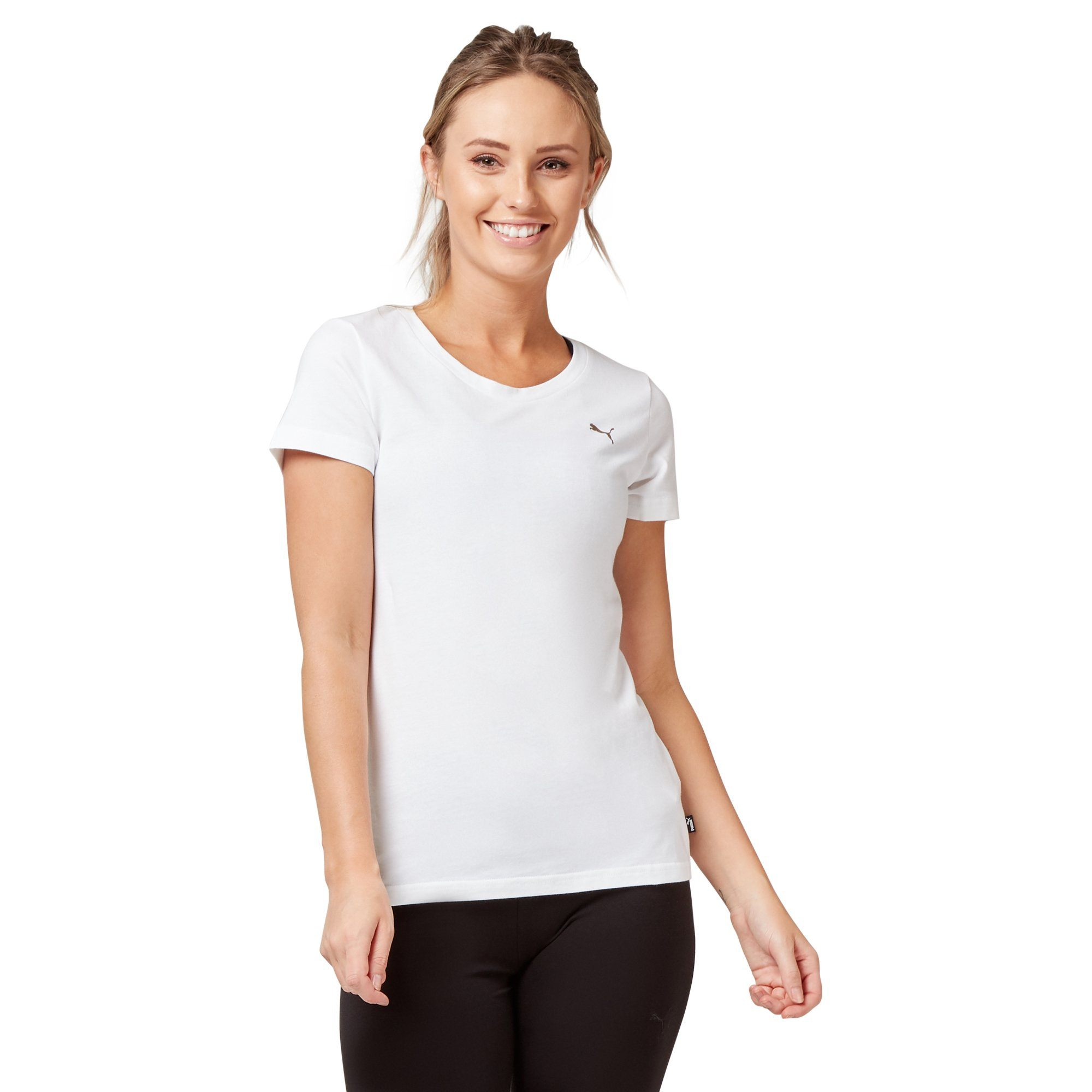 Puma Women's Athletic Tee - White Apparel Puma  (2122609393723)