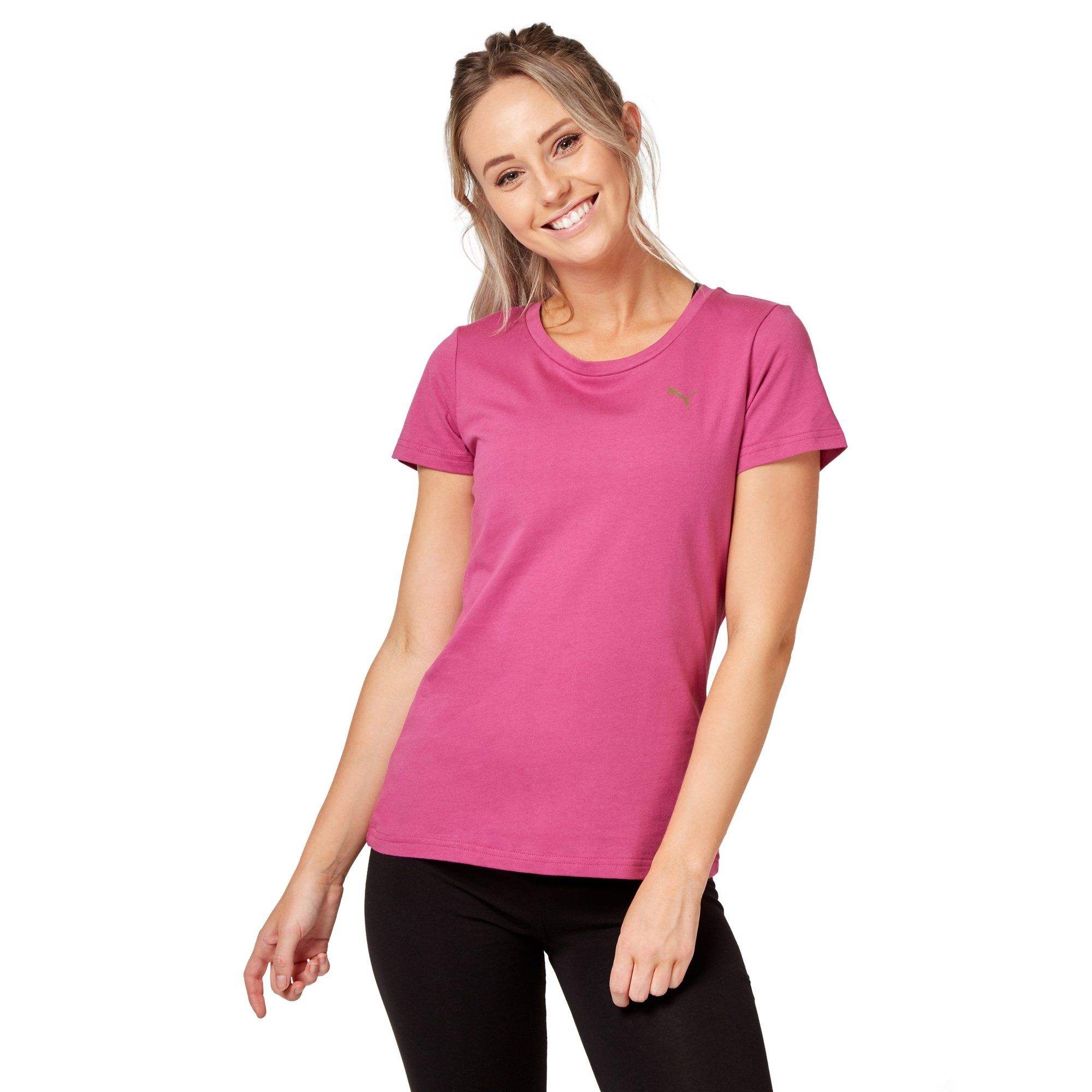 Puma Women's Athletic Tee - Magenta Haze Apparel Puma  (2122609426491)