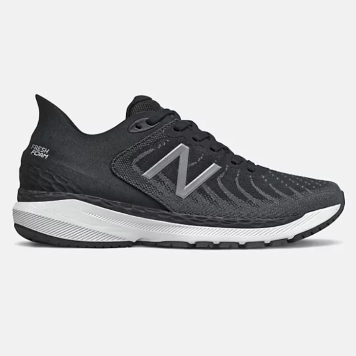 New Balance Womens Fresh Foam 860v11 - Black with White & Lead SP-Footwear-Womens New Balance