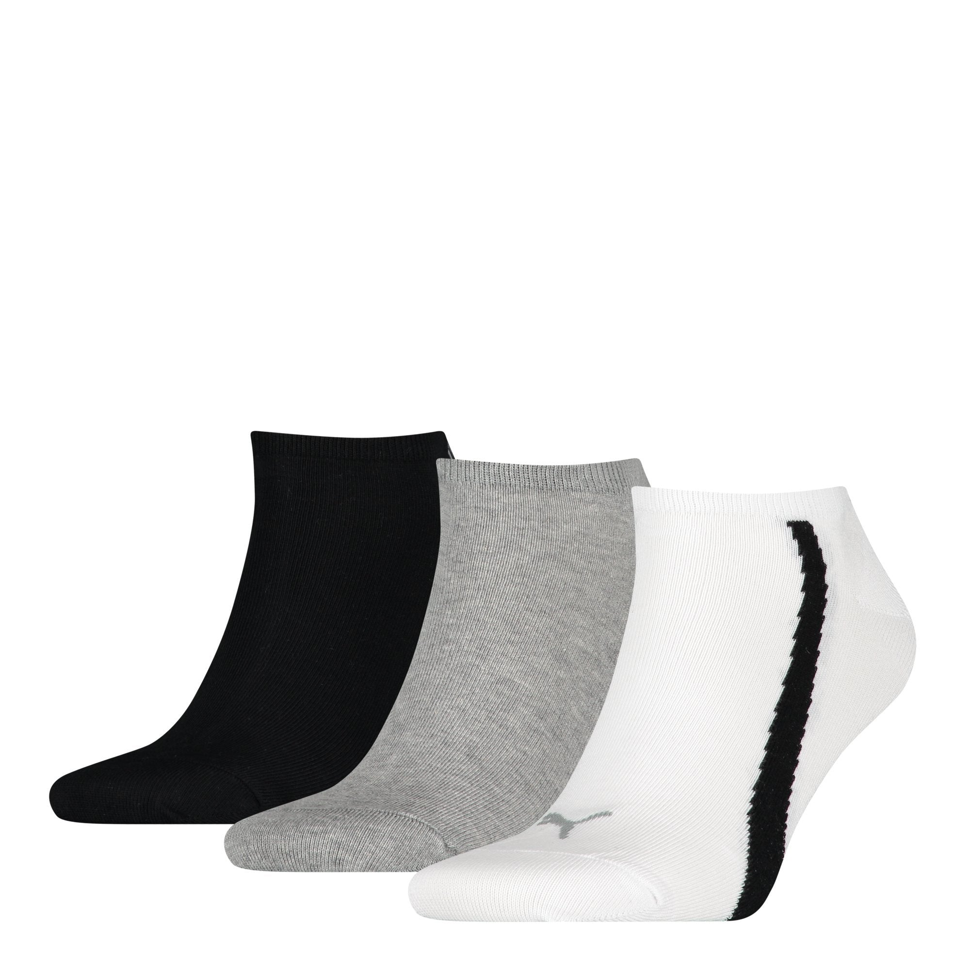 Puma Unisex Lifestyle Sneakers 3P - White / Grey / Black SP-Accessories-Socks Puma