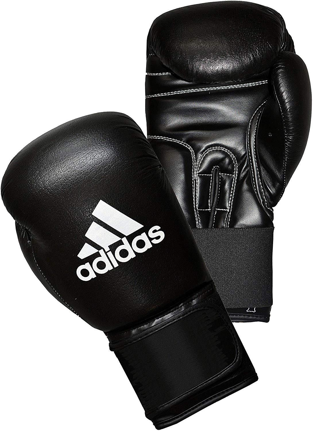 Adidas Boxing Leather Performer Boxing Gloves - Black Boxing SportsPower Geelong