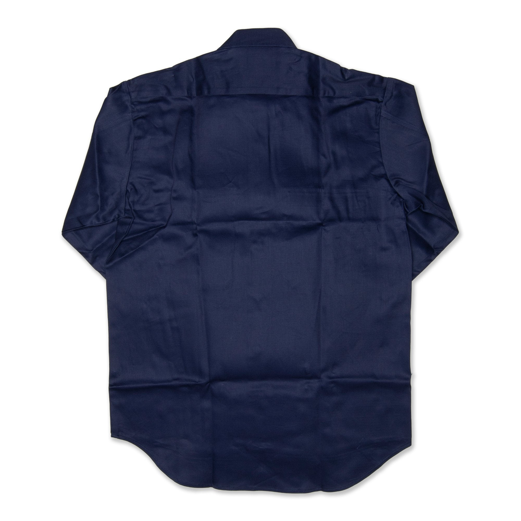 King Gee Long Sleeved Open Front Men's Drill Shirt - Navy Workwear King Gee