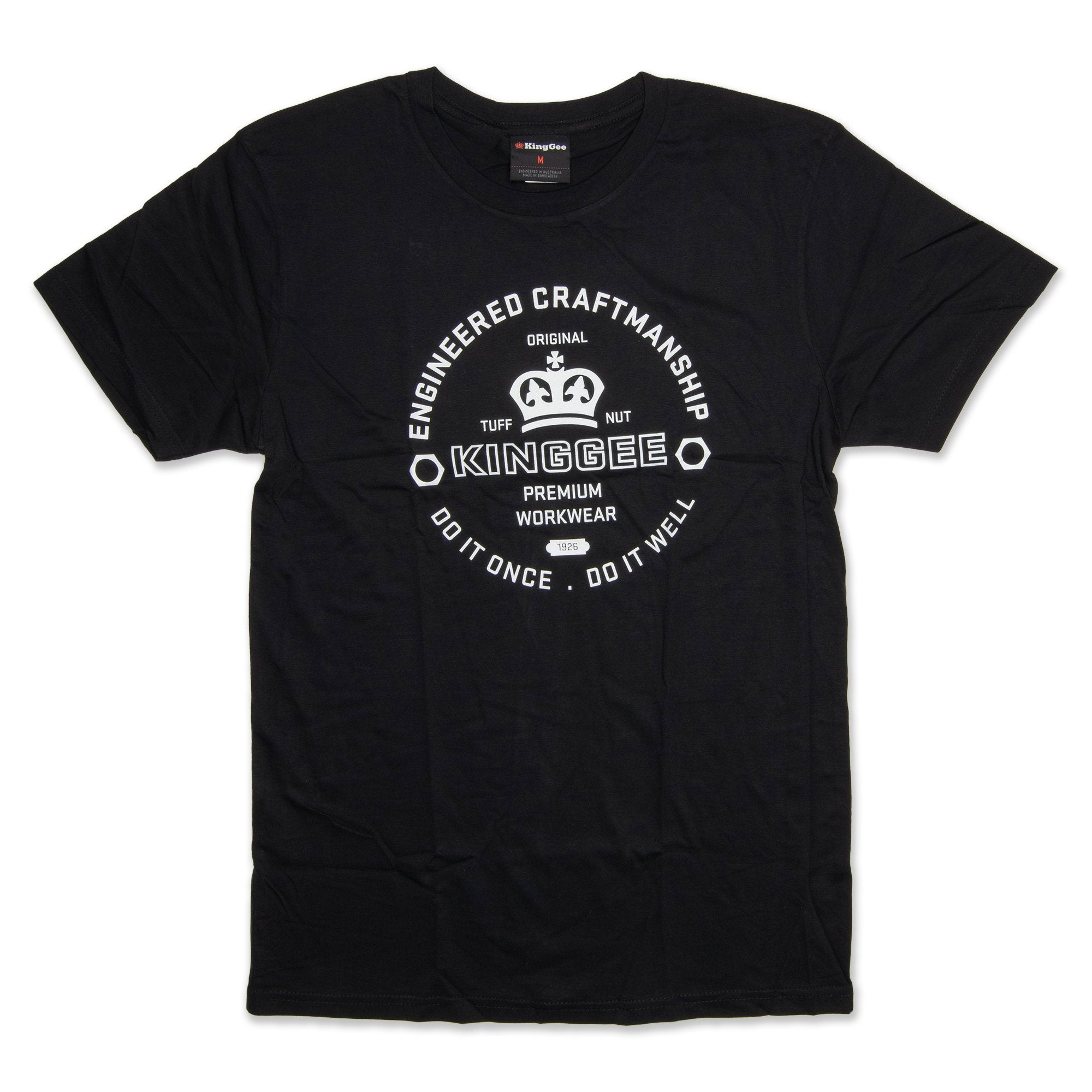 King Gee Tradies T-Shirt - Black Workwear King Gee