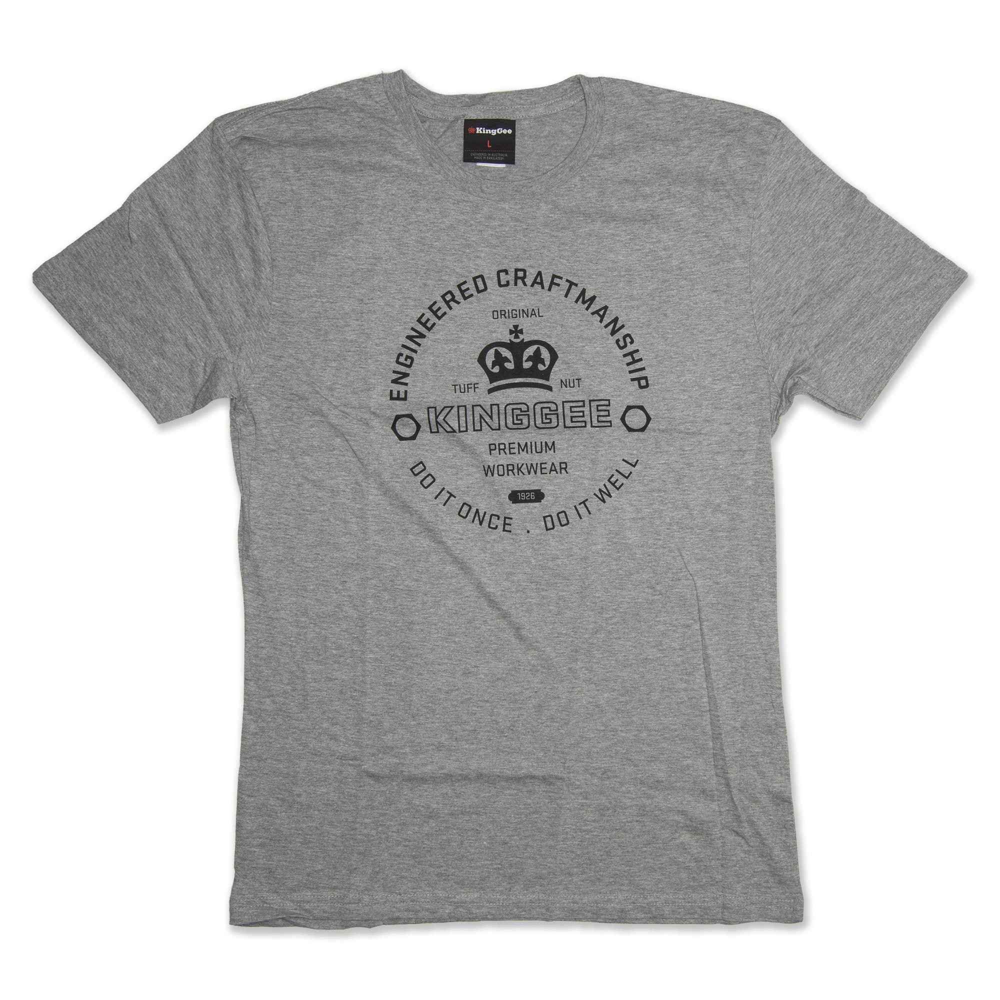 King Gee Tradies T-Shirt - Grey Workwear King Gee