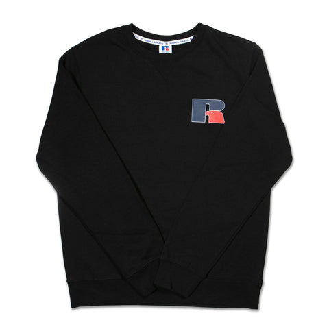 Russell Mens Athletic Logo Crew - Black SP-ApparelFleece-Mens Designworks