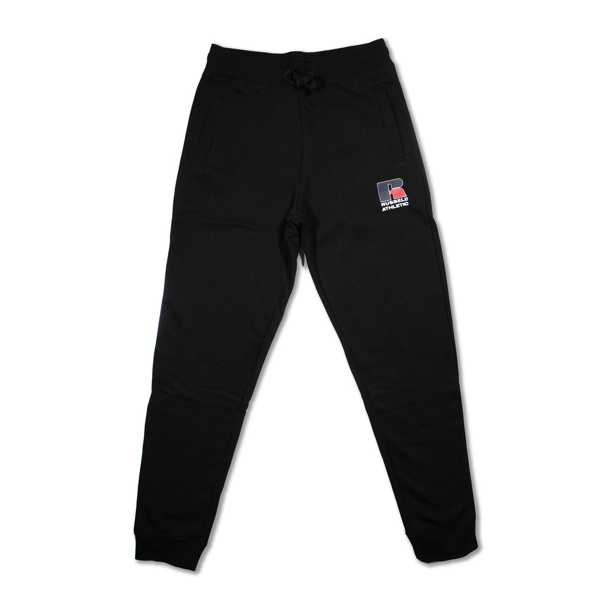 Russell Mens Athletic Logo Trackpant - Black SP-ApparelPants-Mens Designworks