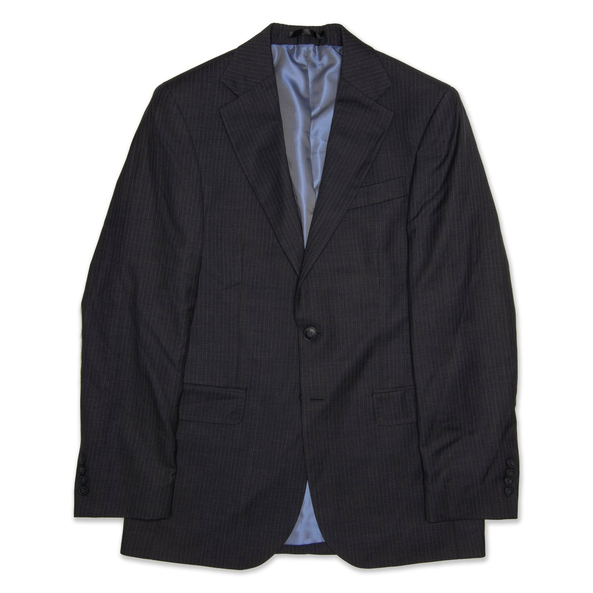 StyleCorp Single Breasted Men's Jacket Striped- Charcoal Workwear StyleCorp
