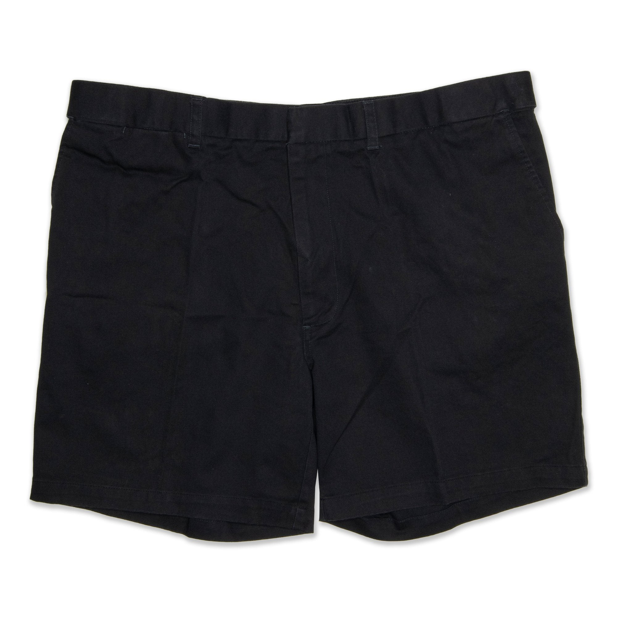 Weekenders Adjustable Waistband Mens Shorts -Black Workwear Weekenders