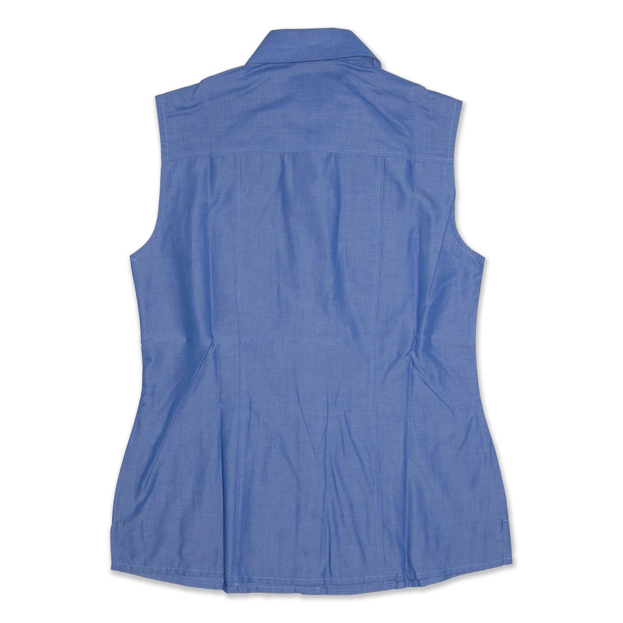 StyleCorp Sleeveless Shirt Women's - Blue Workwear StyleCorp