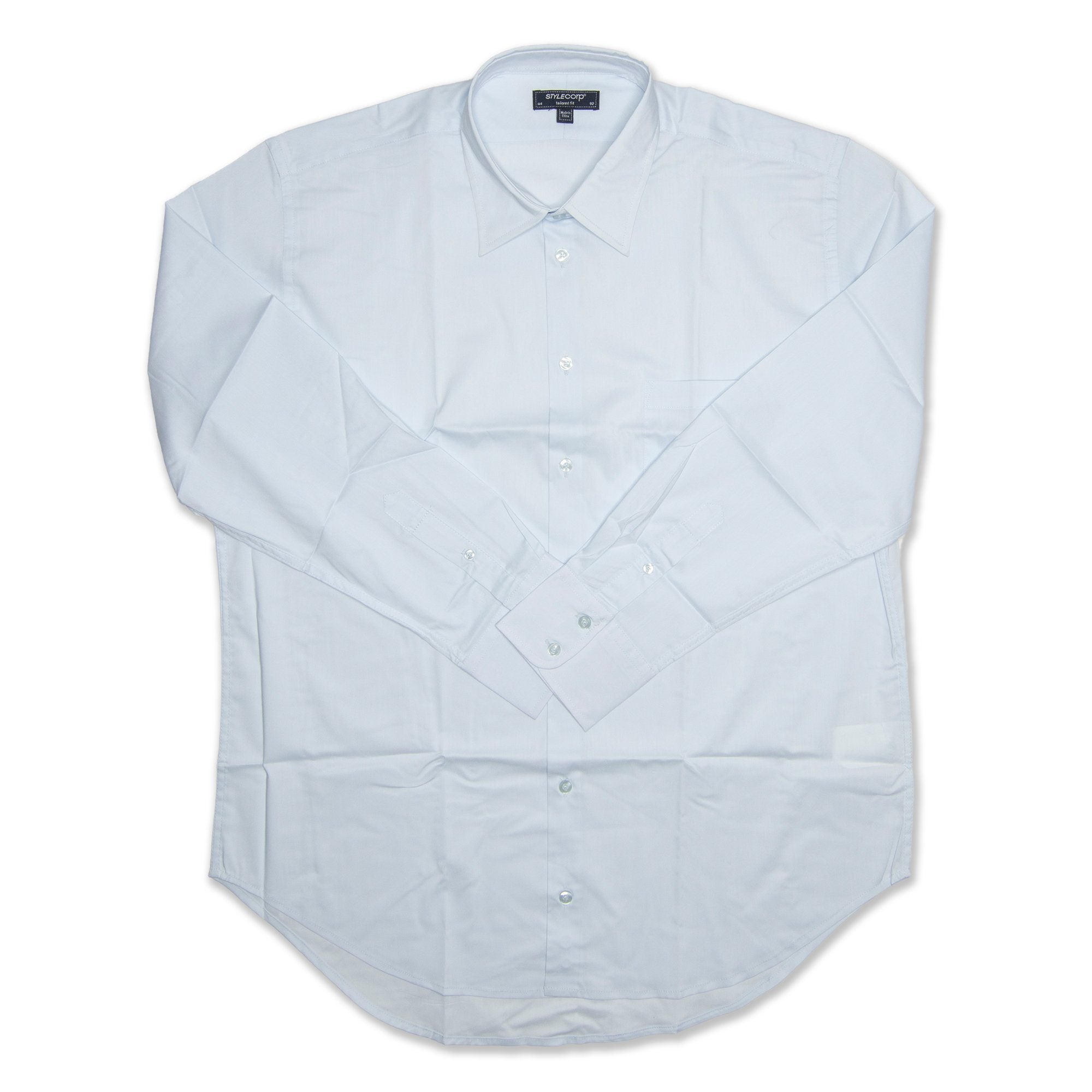StyleCorp Long Sleeve Men's Shirt - Baby Blue Workwear StyleCorp