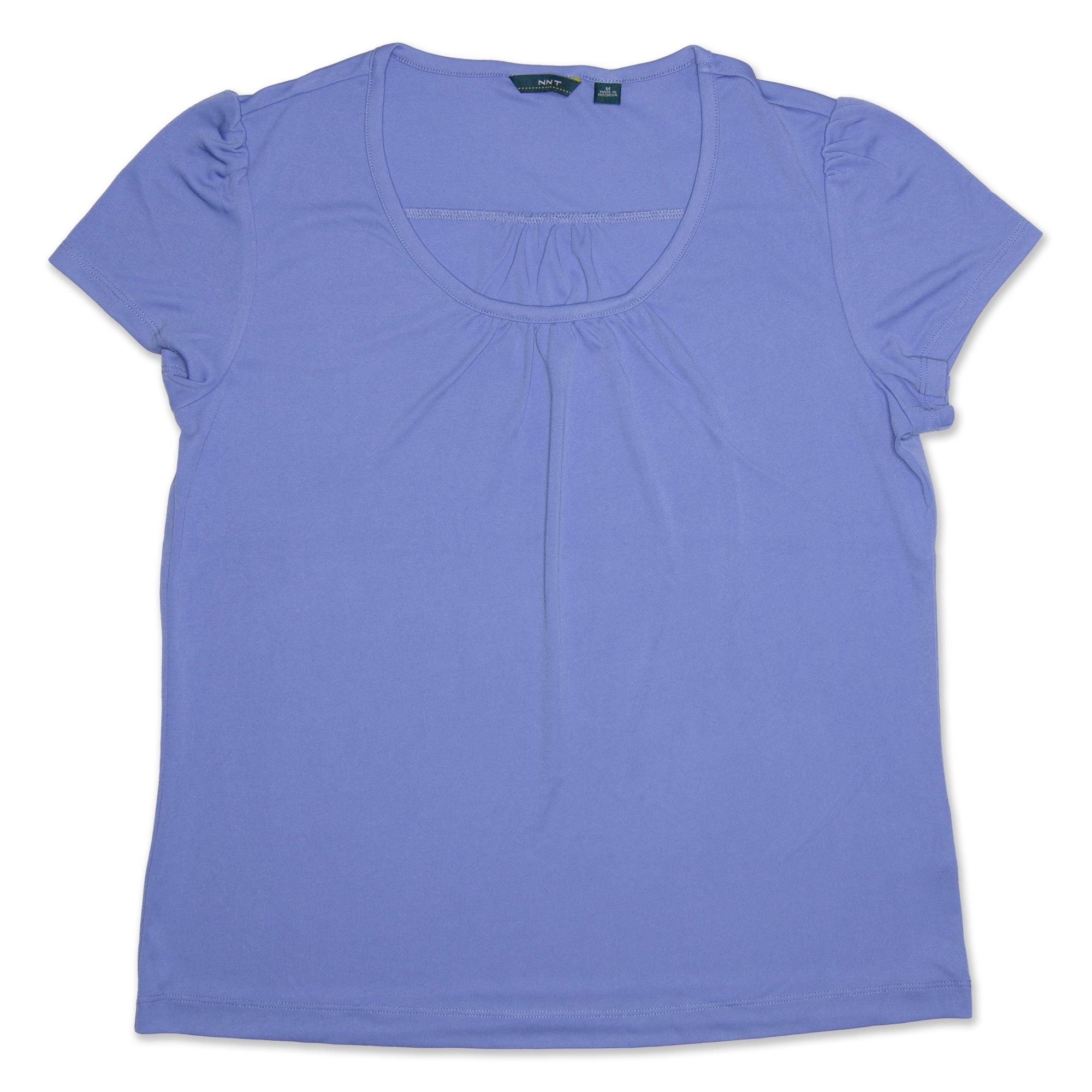 NNT Round Neck Short Sleeve Women's Top - Blue Workwear NNT