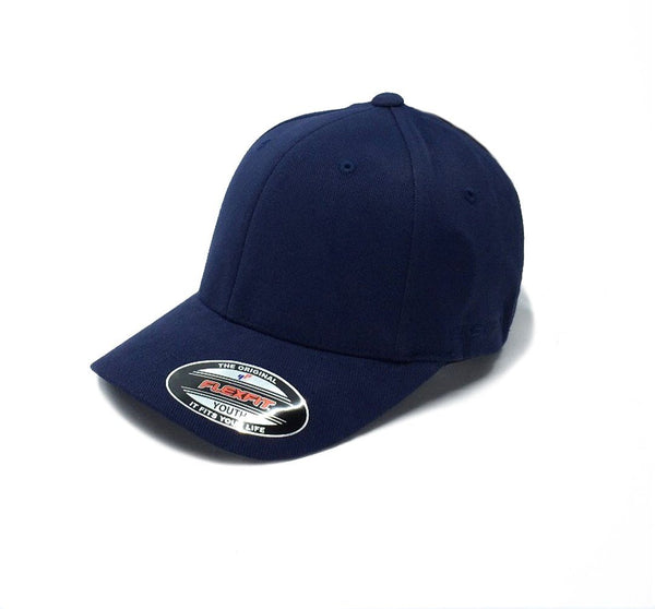 Flexfit Worn By The World Fitted Youth - Navy SP-Headwear-Caps Flexfit