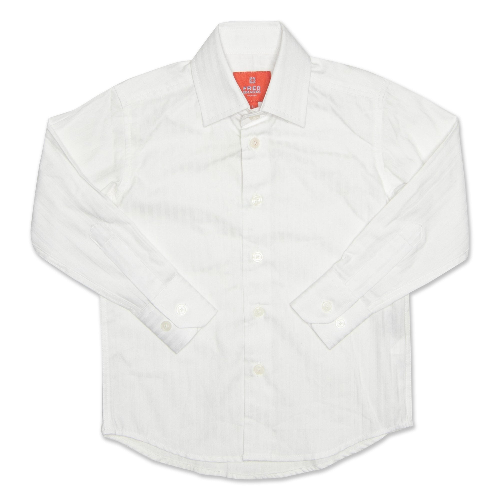 Fred Bracks Long Sleeve Boy's Shirt - White Workwear Fred Bracks