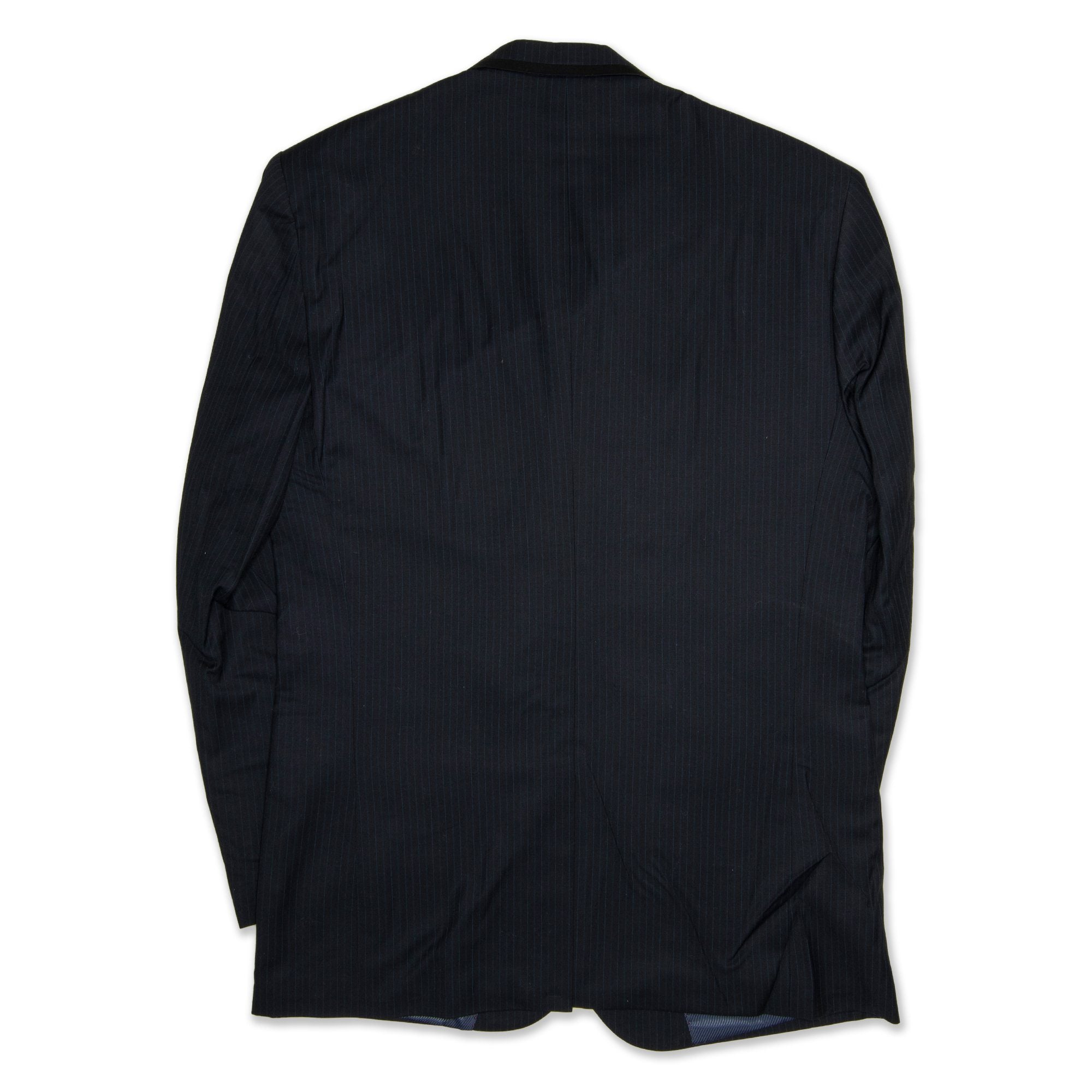 Bracks Single Breasted Men's Jacket Pinstripe - Navy Workwear Bracks
