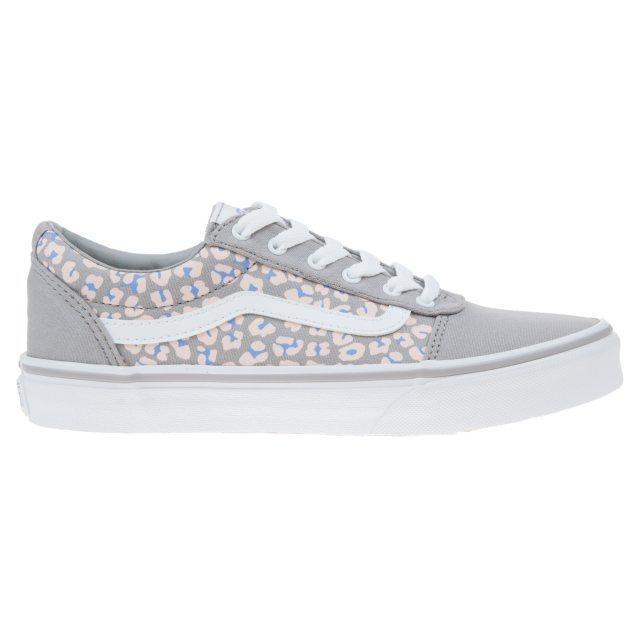 Vans Junior Ward Shoes Cheetah Print - Drizzle/White SP-Footwear-Kids Vans