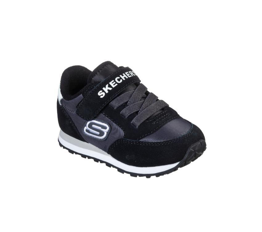 Skechers Retro Sneaks - Gorvox - Black Charcoal SP-Footwear-Kids Skechers