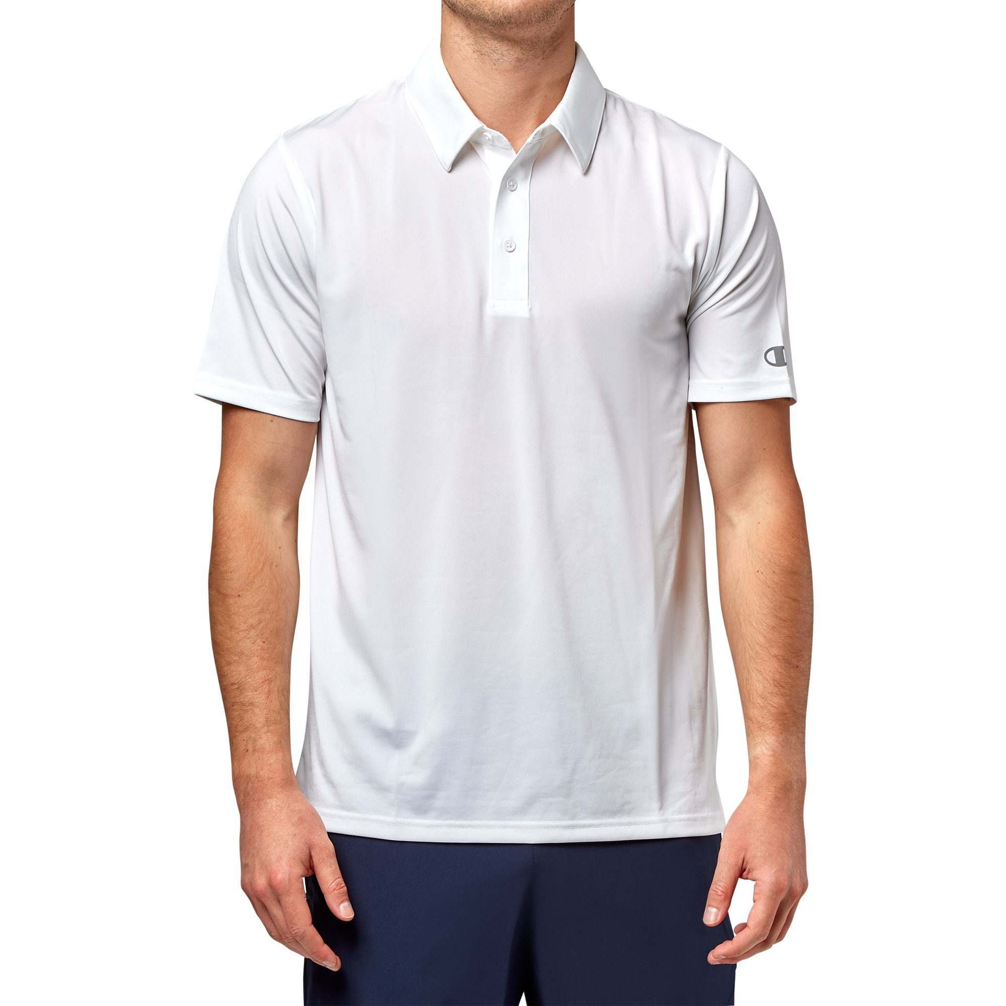 Champion Mens Essential Polo T-Shirt - White Apparel Champion  (2015172362299)