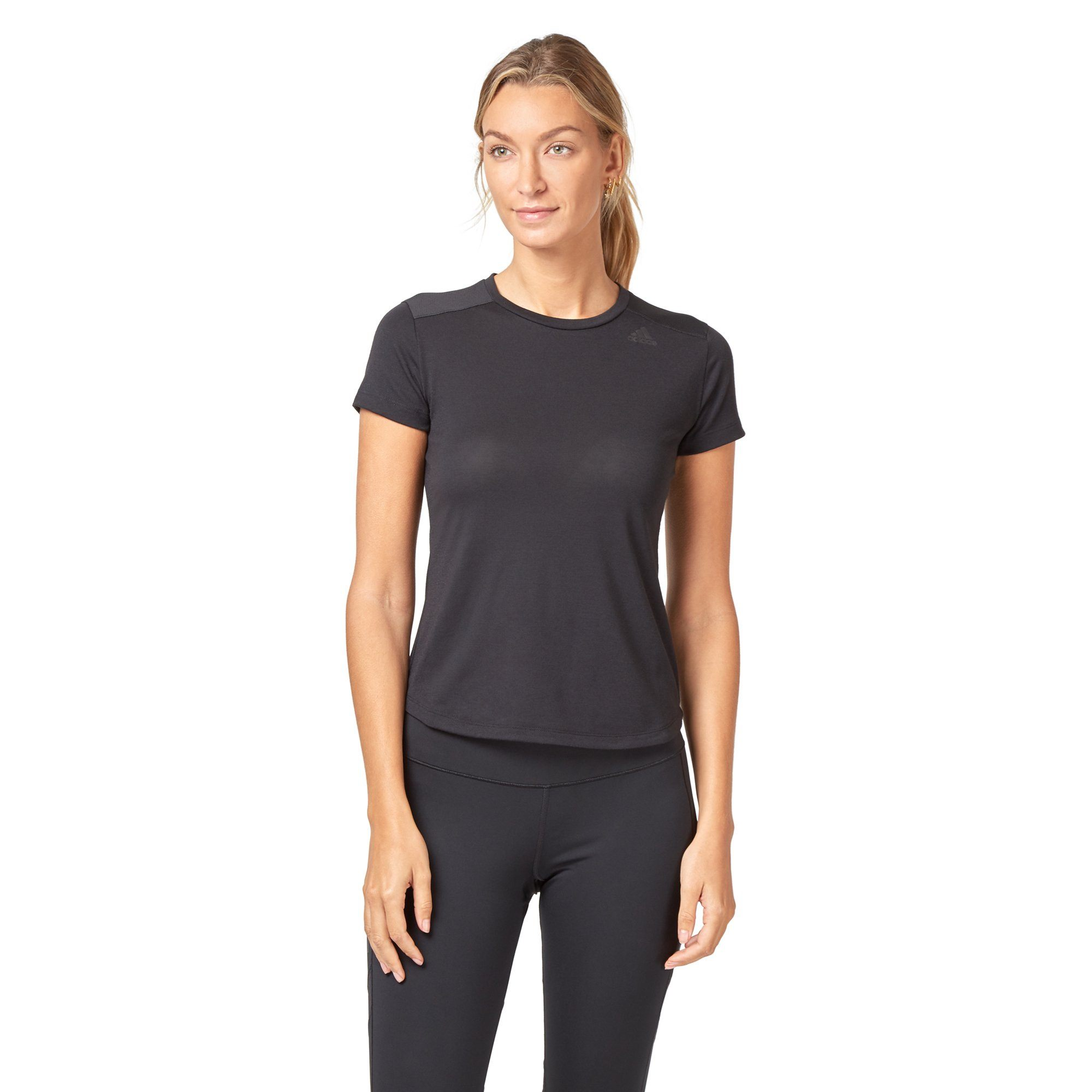Adidas Women's Prime Mix Tee - Black SportsPower Geelong  (2012420374587)