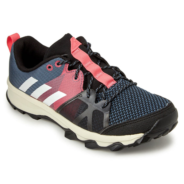 Adidas Kid's Kanadia 8.1 Shoes - Raw Steel/Off White/Real Pink Footwear Adidas