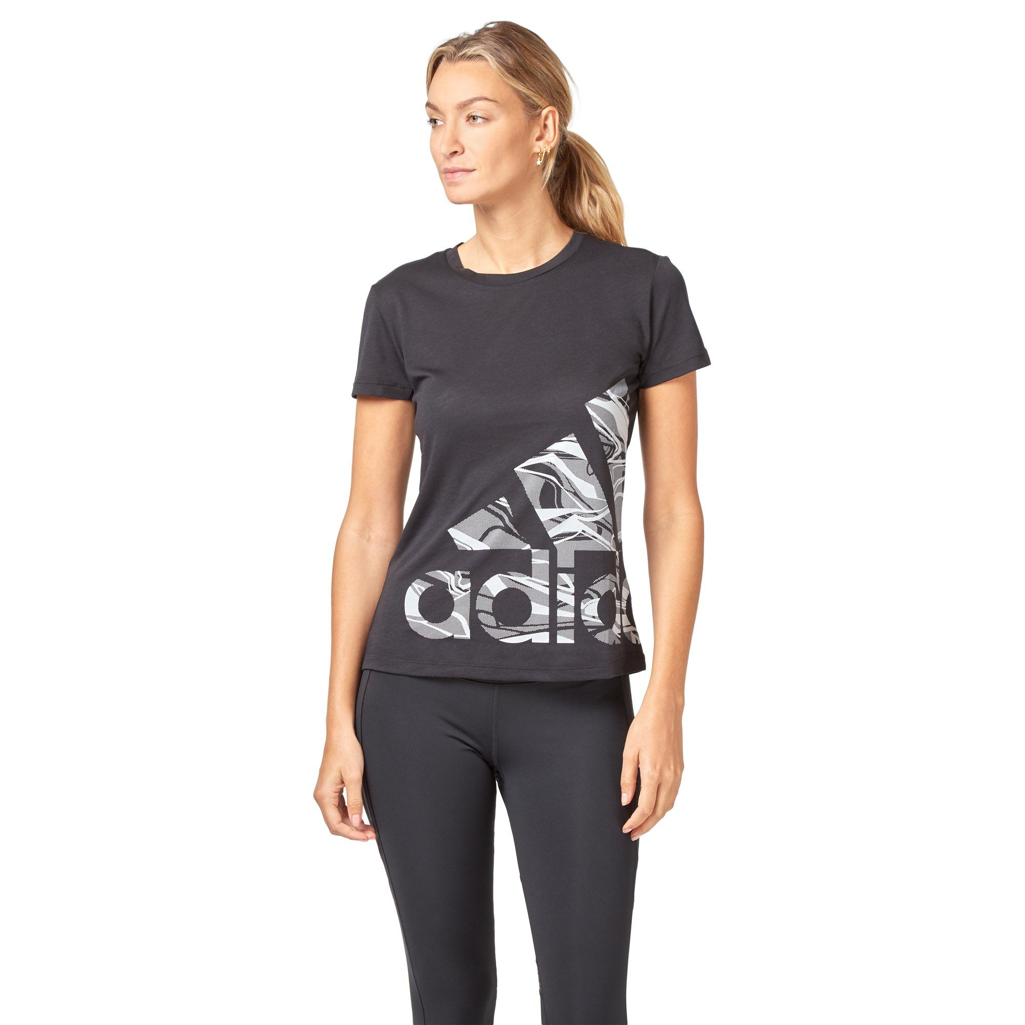 Adidas Women's Logo Tee - Black SportsPower Geelong  (2012421062715)