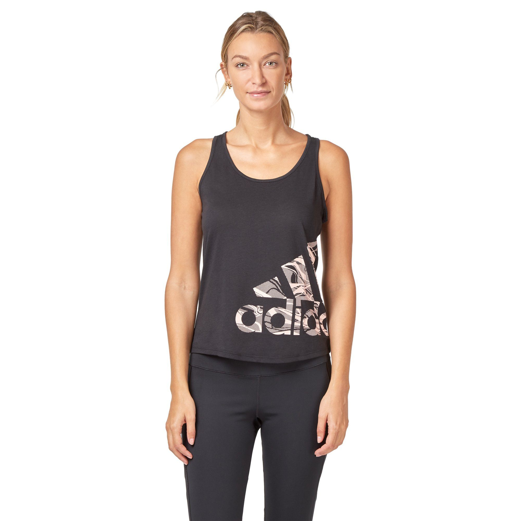Adidas Women's Logo Tank Top - Black SportsPower Geelong  (2012421095483)