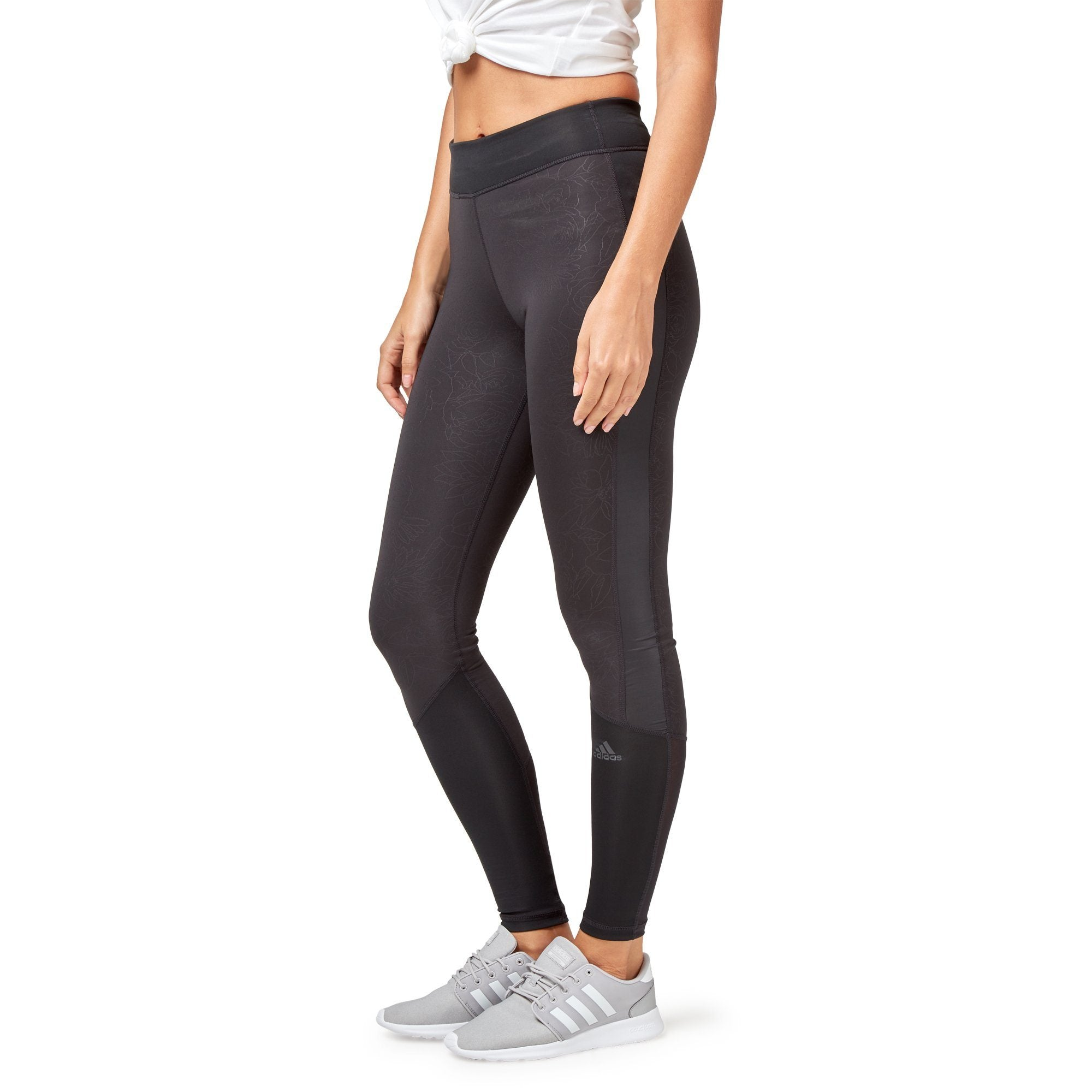 Adidas Women's Designed-2-Move Tights - Black/print SportsPower Geelong  (2012421324859)