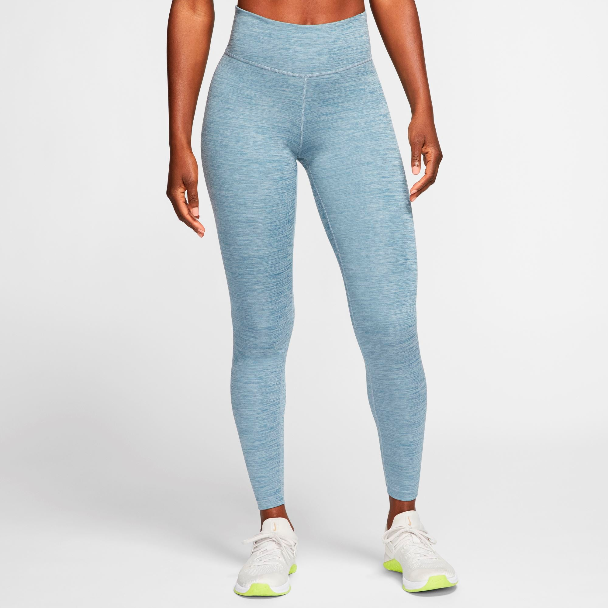 Nike Womens One Tights - Valerian Blue/Heather/White SP-ApparelTights-Womens Nike