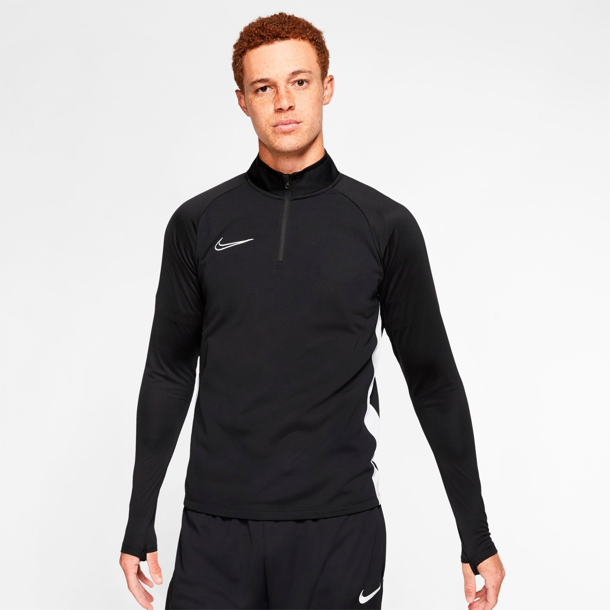 Nike Mens Dri-FIT Academy Soccer Drill Top - Black/White/White SP-ApparelTees-Mens Nike