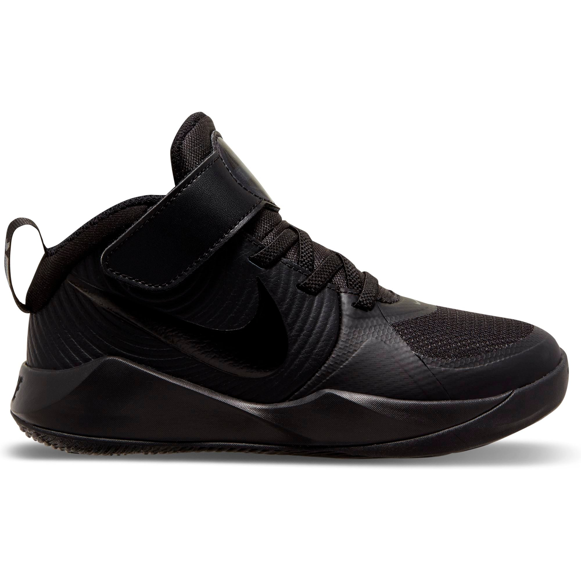 Nike Kids Team Hustle D 9 (Little Kids) - Black/Black-Dk Smoke Grey/Volt SP-Footwear-Kids Nike