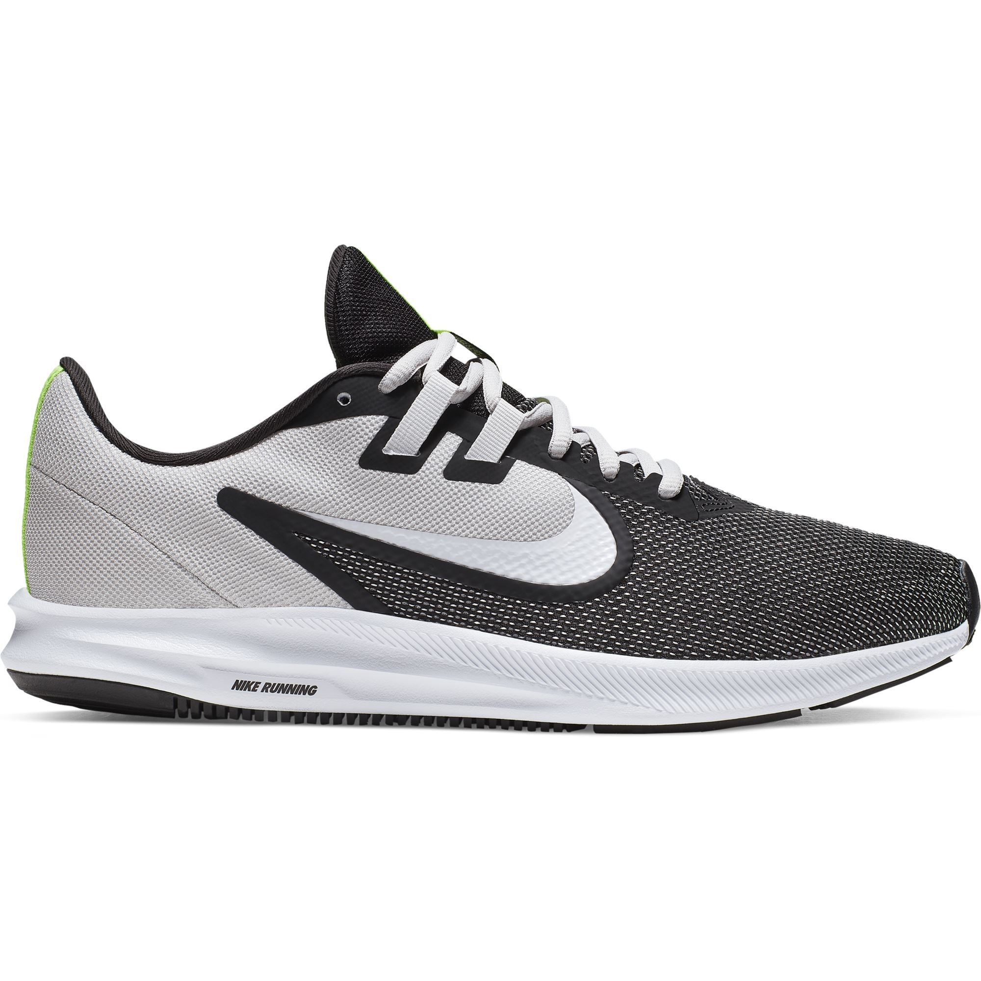Nike Mens Downshifter 9 - Black/White-Vast Grey-Electric Green Q3NIKE Nike
