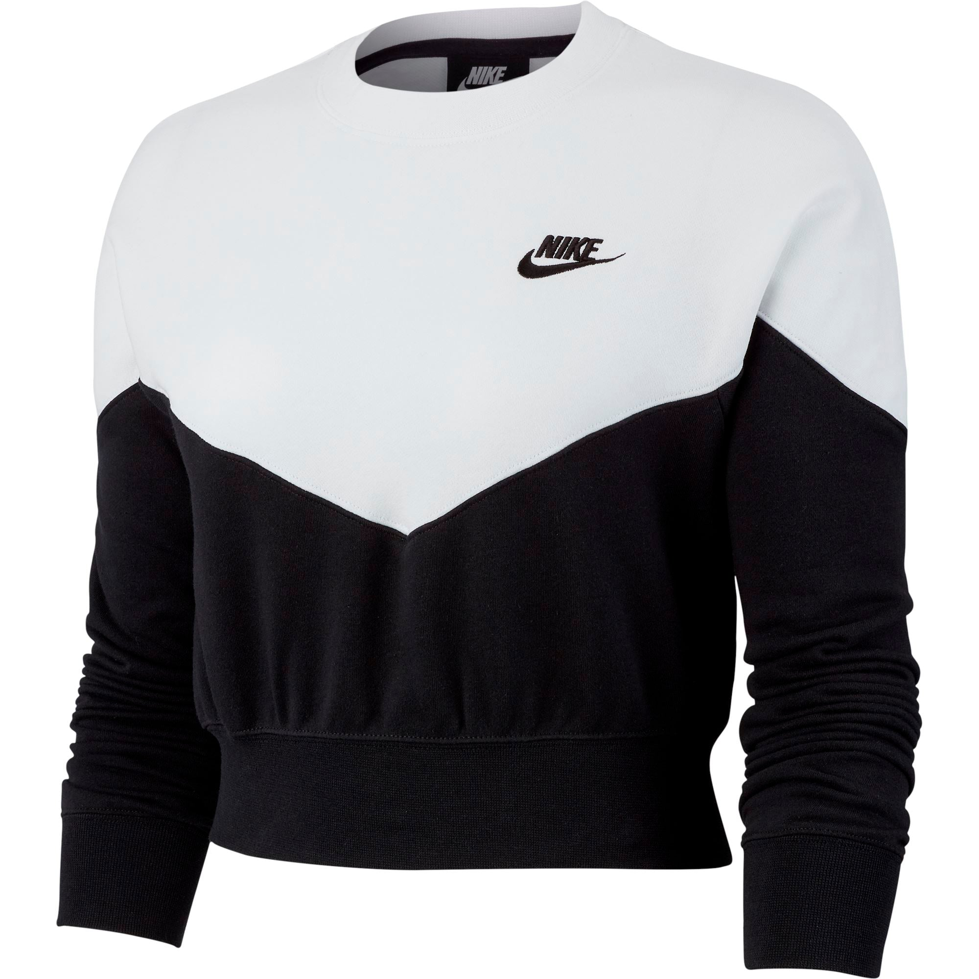 Nike Womens Sportswear Fleece Crew - Black/White/Black SP-ApparelFleece-Womens Nike