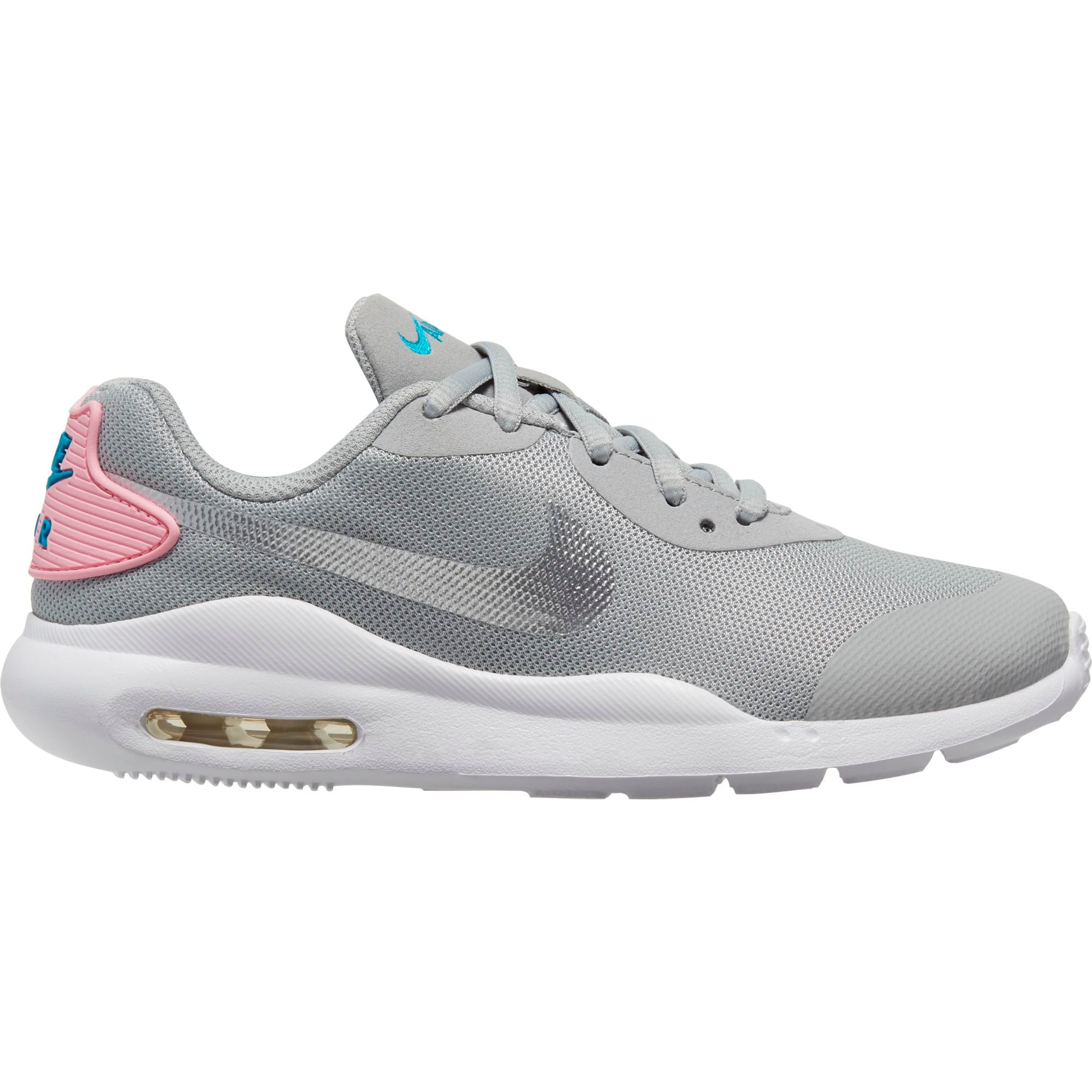 Nike Big Kids Air Max Oketo - Lt Smoke Grey/Metallic Silver-Pink SP-Footwear-Kids Nike