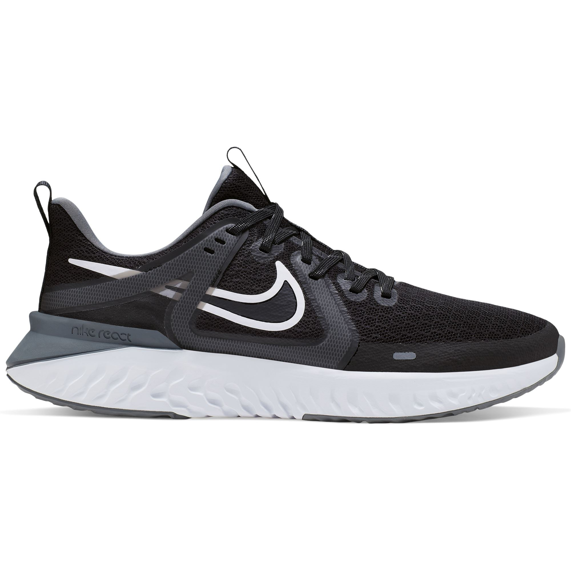 Nike Mens Legend React 2 - Black/White-Cool Grey-Mtlc Cool Grey Q3NIKE Nike