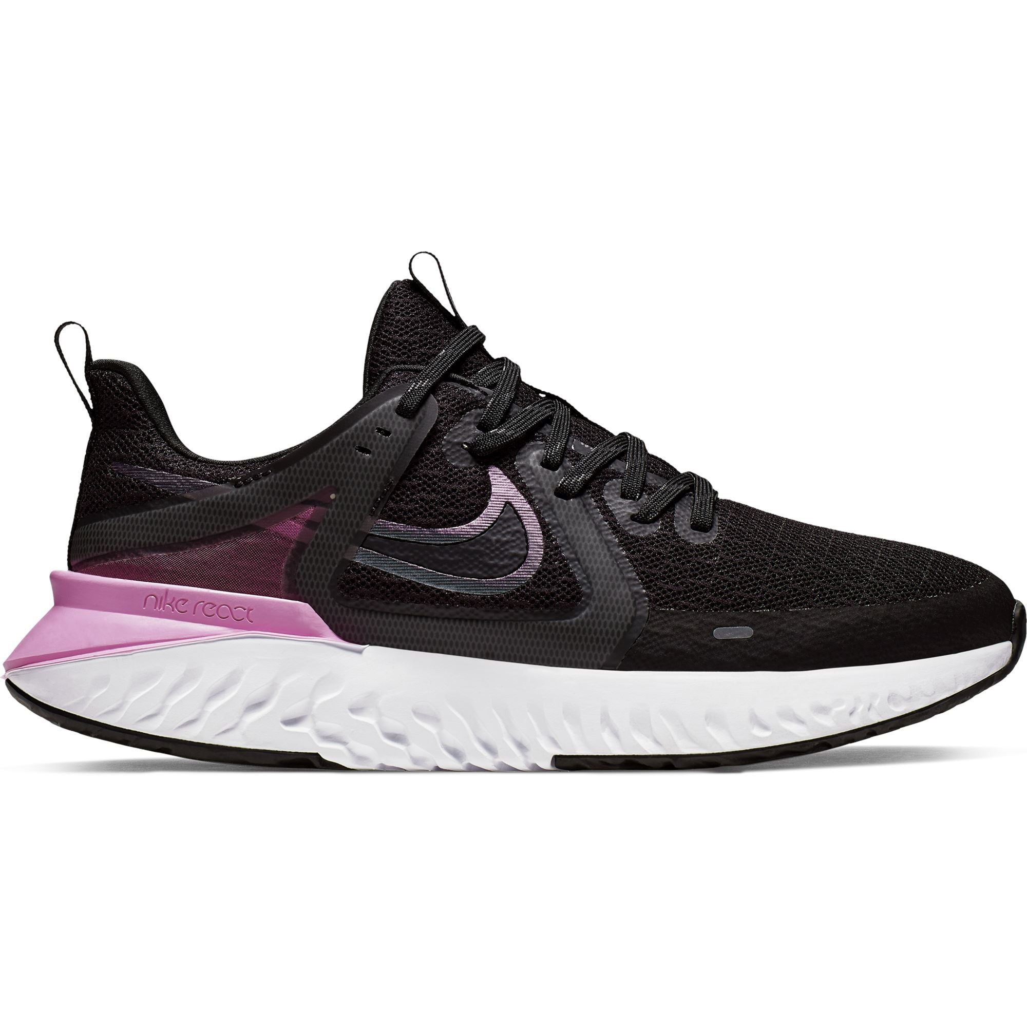 Nike Womens Legend React 2 - Black/Cool Grey-Psychic Pink-White Q3NIKE Nike