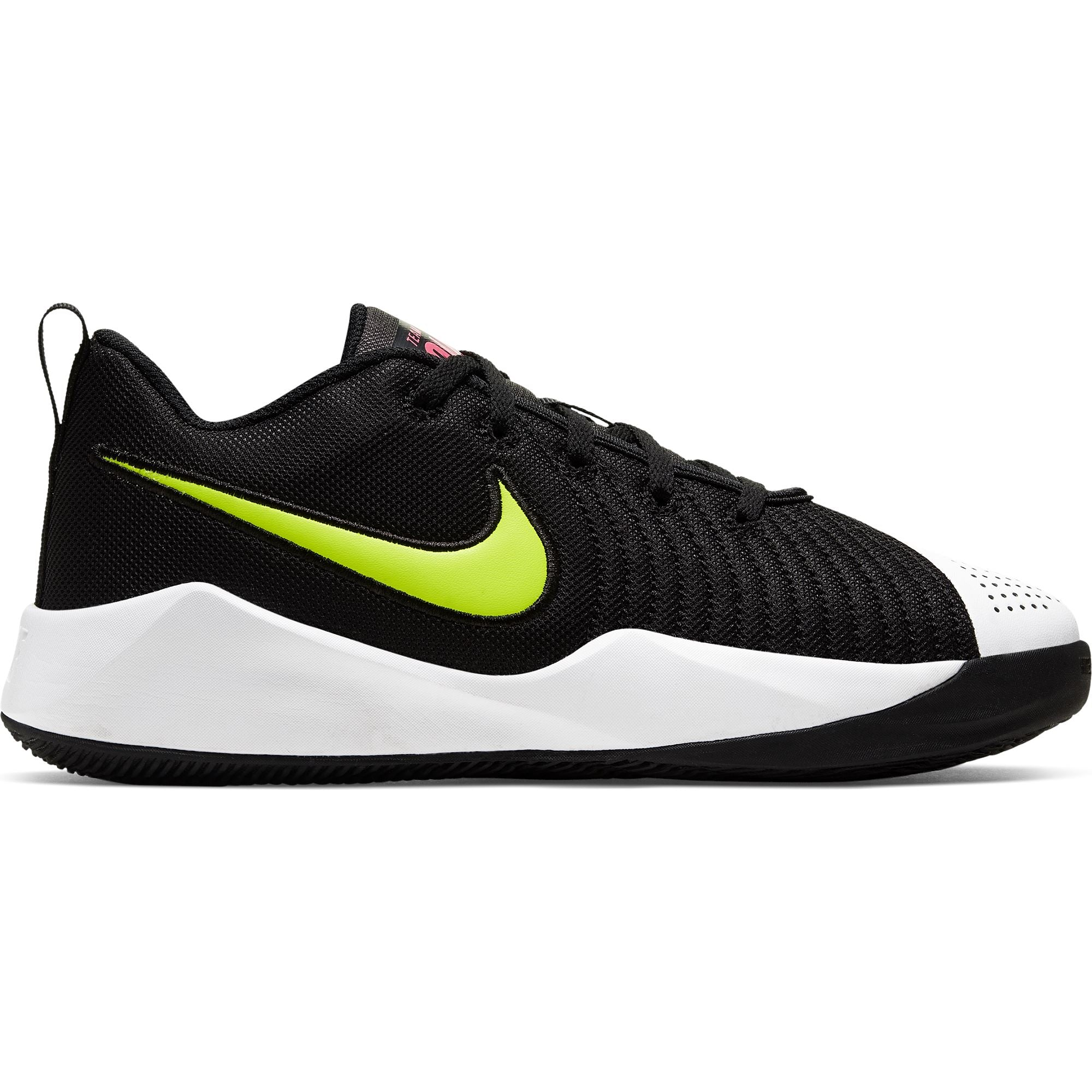Nike Kids Team Hustle Quick 2 - Black/Volt/White/Blue Hero SP-Footwear-Kids Nike