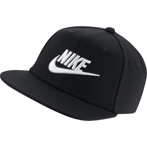 Nike Kids Pro Kids Adjustable Hat - Black/Black/White SP-Headwear-Caps Nike