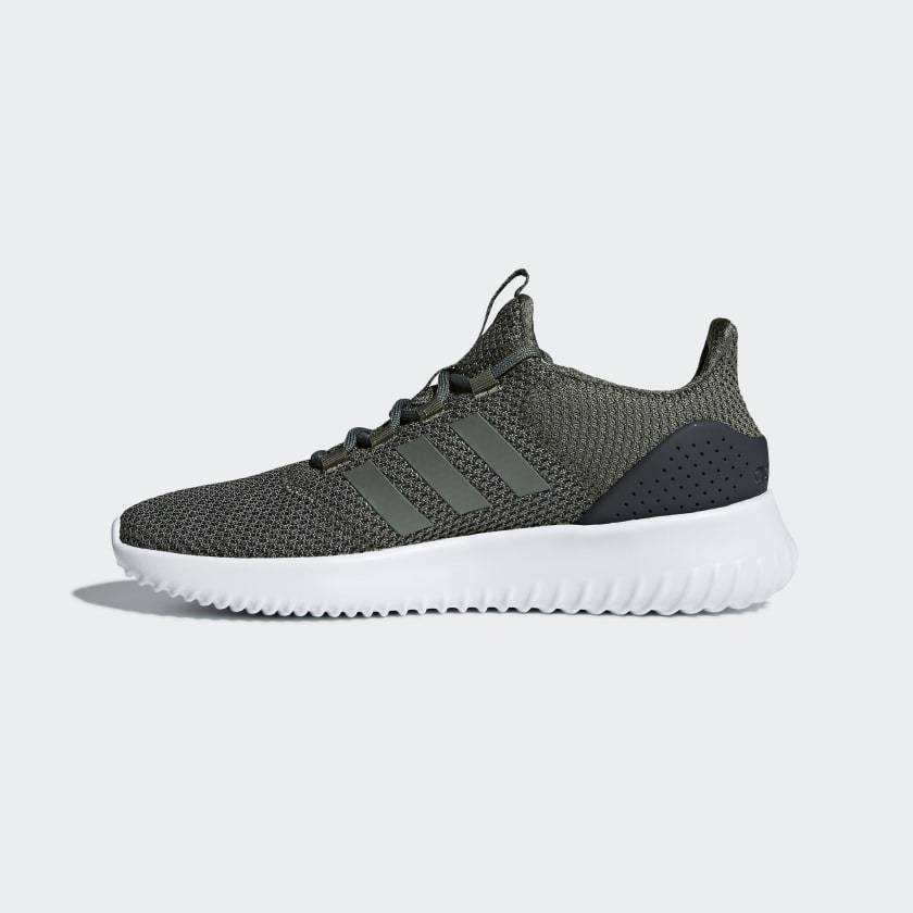 Adidas Mens Cloudfoam Ultimate - Base Green/Base Green/Carbon SP-Footwear-Mens Adidas